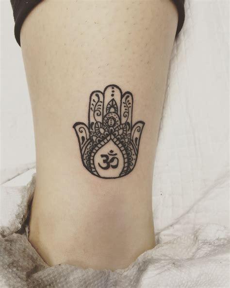 hamsa tattoo small my third hamsa and aum tattoos