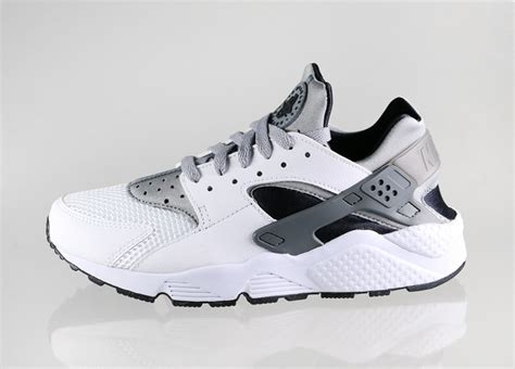 nike air huarache white wolf grey black cool grey