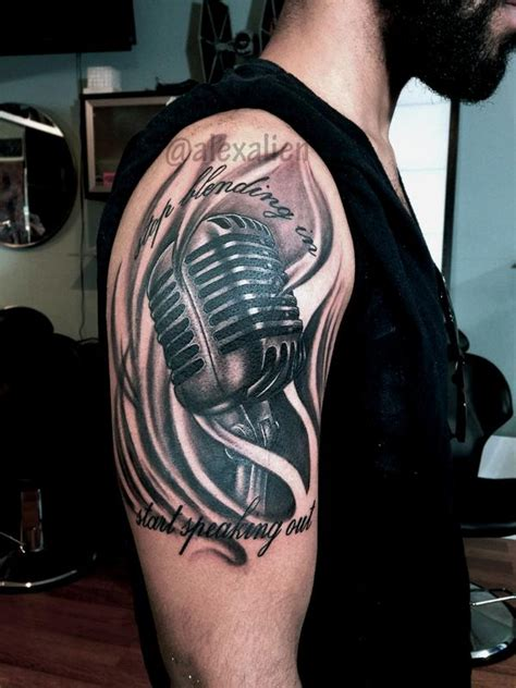 tattoo old school microphone vintage microphone by alex alien tattoonow