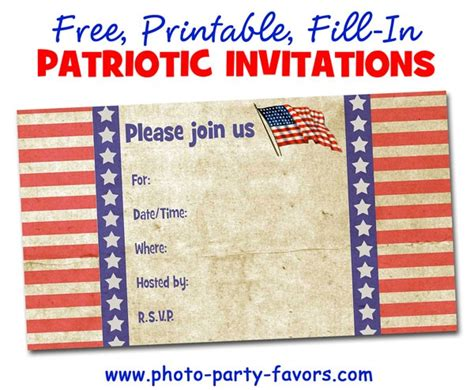 patriotic invitation templates free free printable patriotic invitations planning a 4th of