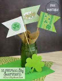 st patrick s day decorations free printable shamrock flags diy crafts