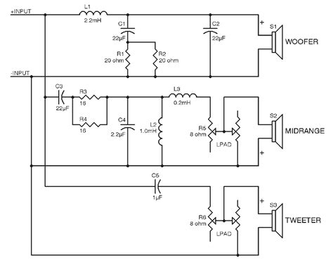 crossover diagram circuit jbl crossover schematic resources building a crossover