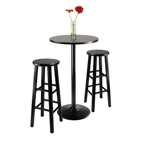 3 bar table set amazon com winsome obsidian pub table set kitchen dining