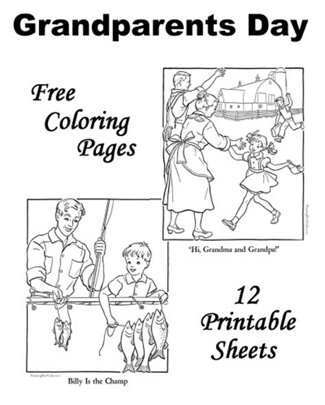 coloring page for grandparents day grand parents day colouring pages