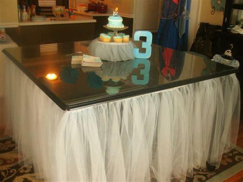 diy tutu table skirt cinderella birthday
