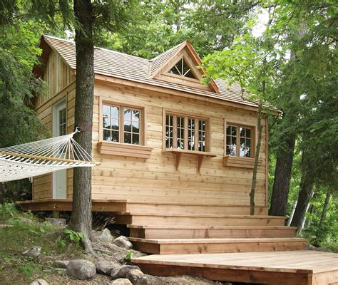Bunkie Cabin by Cabin Cottage And Bunkie Kits From Cabana