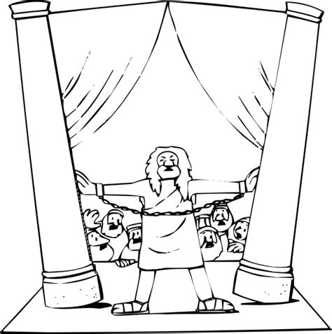 free coloring pages of samson from bible