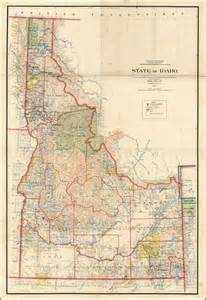 map of idaho 1899 wall map barry