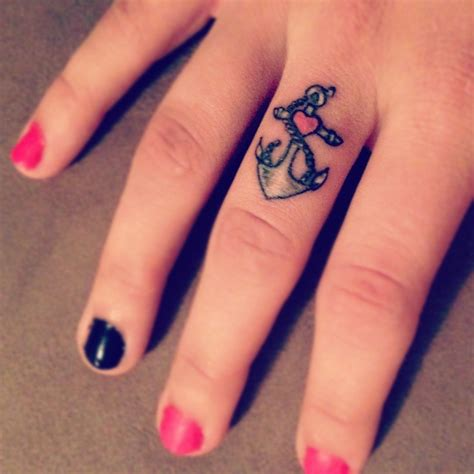 girly finger tattoos i refuse to sink i will hold onto anchor tattoos