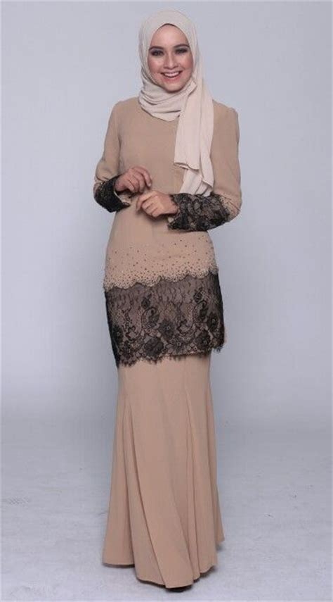 Dress Motif Baju Muslim Maxi Dress Lupita kurung moden with lace fashion baju kurung kebaya and traditional
