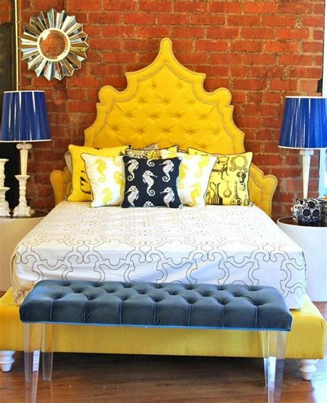 yellow headboard yellow casablanca bed i roomservicestore