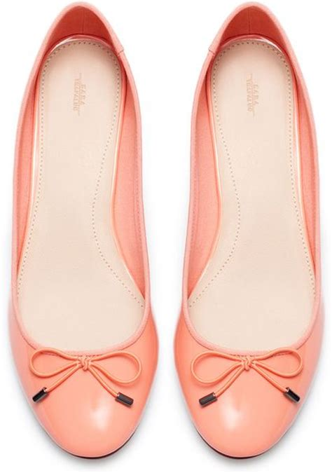 ballerina high heels zara high heel ballerina in pink salmon lyst