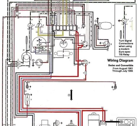 free auto wiring diagram 1962 1965 vw beetle electrical
