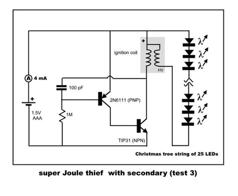 joule thief without inductor new thief quot resonate lcr circuit quot much less energy draw