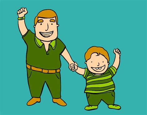 imagenes de madre e hijo de caricatura dibujo de pap 225 e hijo pintado por amalia en dibujos net el