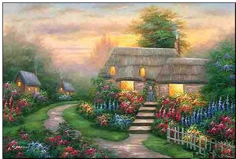 cottage italia italy cottages landscapes painting cottages wood view