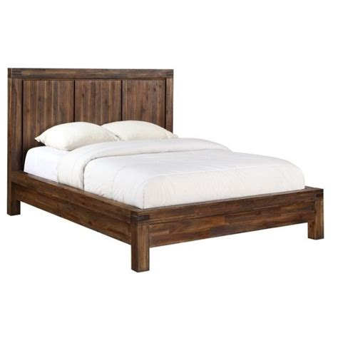 solid wood platform bed modus furniture meadow solid wood platform bed in brick