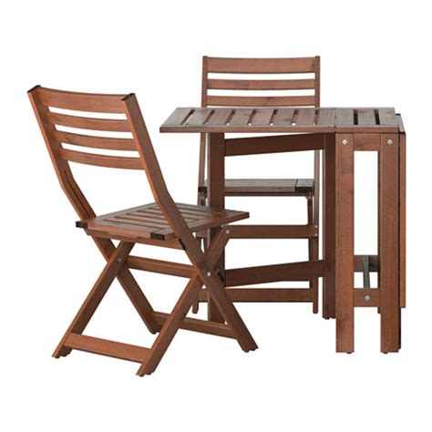 Outdoor Folding Table And Chairs 196 Pplar 214 Table And 2 Folding Chairs Outdoor 196 Pplar 246 Brown Stained Ikea