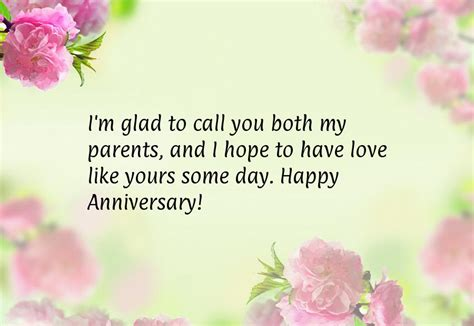 25th Wedding Anniversary Quotes To by Happy Anniversary Quotes For Parents Quotesgram