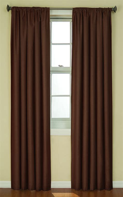 chocolate curtain eclipse kendall rod pocket panel chocolate ellery