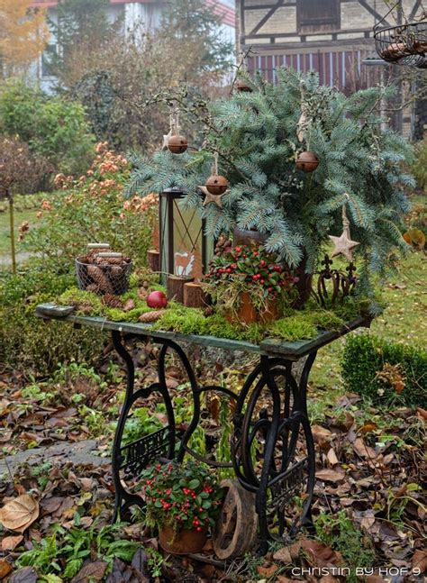 Nähmaschine Gartendeko by Die Besten 25 Weihnachtsdeko Drau 223 En Ideen Auf