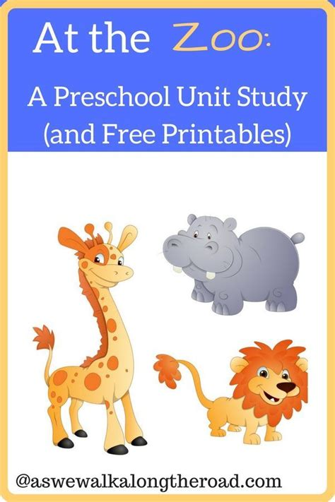 printable zoo animals for preschoolers at the zoo a preschool unit study with free printables