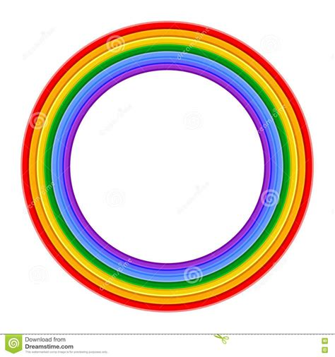 colorful rings colorful rainbow ring vector illustration stock photos