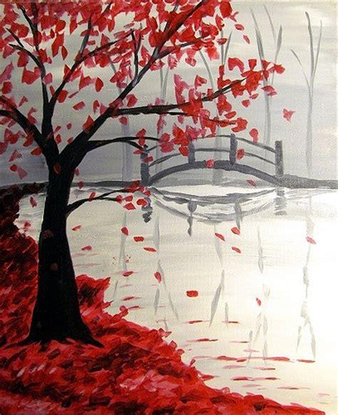 paint nite dallas paint nite bridge in the fall