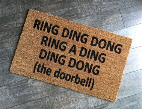 Ding Mats by Ring Ding Dong Doormat Custom Welcome Mat