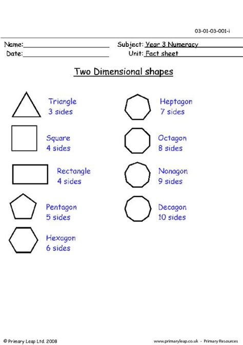 Printable Two Dimensional Shapes Worksheets | two dimensional shapes 2 d primaryleap co uk
