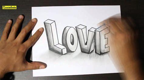 imagenes para dibujar a lapiz en 3d faciles graffitis de amor a lapiz 3d