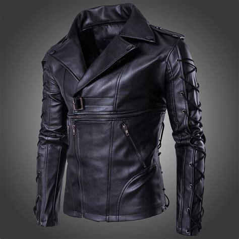 mens lace up motorcycle men s punk zipper lace up faux leather motorcycle biker