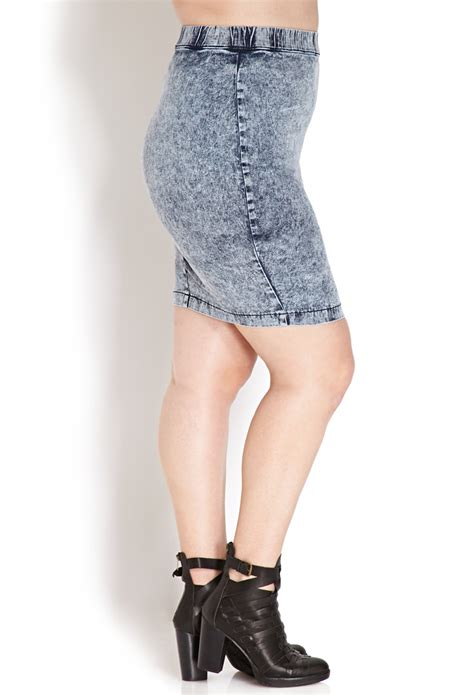 Fresh Denim by Forever 21 Fresh Acid Wash Denim Skirt In Blue Lyst