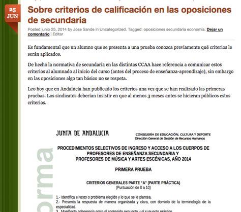 preguntas abiertas de frances sobre los criterios de calificaci 243 n en las oposiciones de
