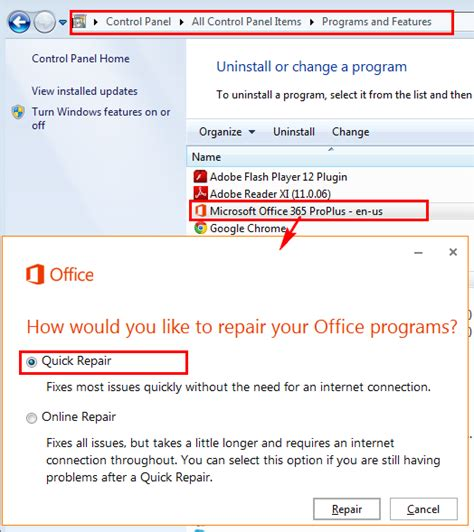 Office 365 Repair How To Resolve Excel Issues With Process Runner