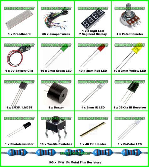 resistors basics electronic project starter kit d basic breadboard wire led resistor lm335 ebay