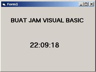 membuat jam digital menggunakan vb 6 cara membuat jam digital di visual basic chibi blog