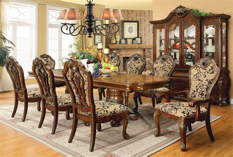 Opulent Traditional Style Formal Dining Room Furniture Set Traditional Dining Room Furniture