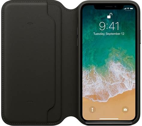 Apple Iphone X Leather Black buy apple iphone x leather black free delivery