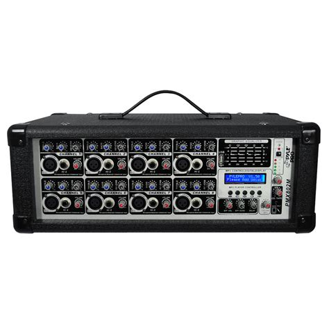 Power Mixer Q8p 8channel pyle pmx802m 8 channel 800 watts powered mixer w mp3 input pmx802m