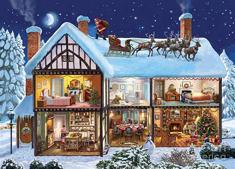 christmas house digital art by steve crisp