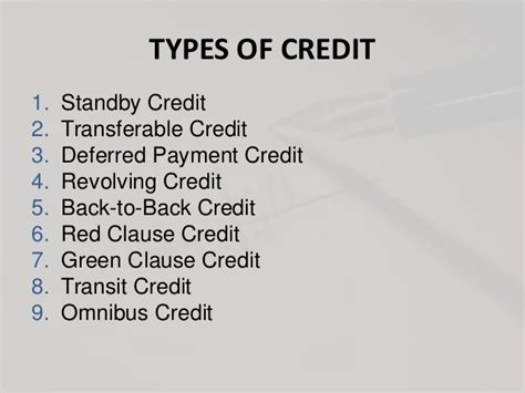 Transfer Standby Letter Of Credit Documentary Credit