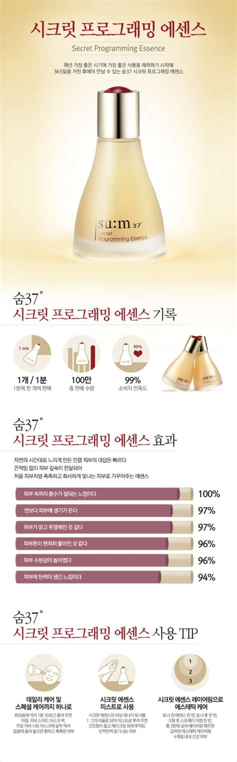Su M37 Secret Programming Mask sum37 secret programming essence korean care shop