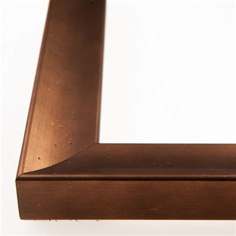 Mylar 0 30mm 100x100cm houten lijst ferrosa bronze 30 mm
