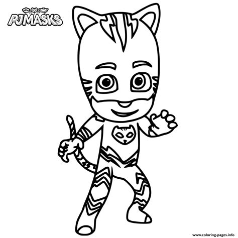 pj masks gecko coloring pages catboy from pj masks coloring pages printable