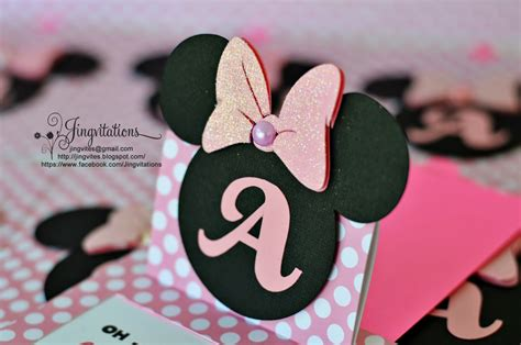 Minnie Mouse Handmade Invitations - jingvitations cricut handmade minnie mouse pop up invitations