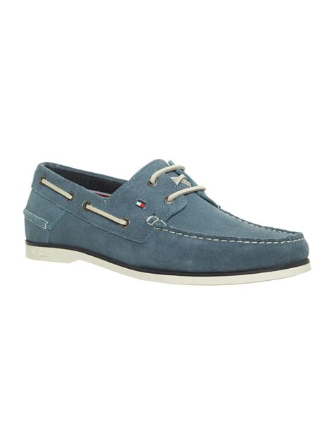 hilfiger shoes for hilfiger classic boat shoes in blue for lyst