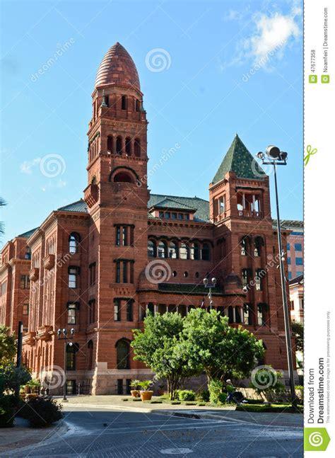 Bexar County Court Search Historical Building Bexar County Courthouse Editorial
