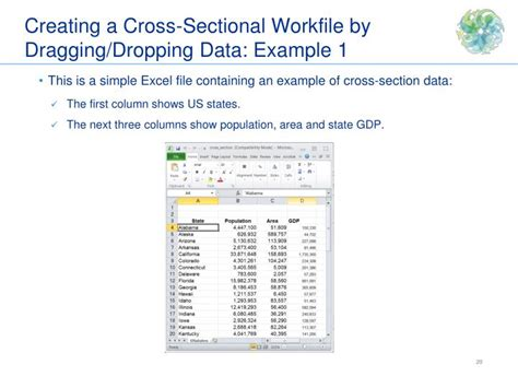 cross sectional data exle ppt eviews training powerpoint presentation id 2474228