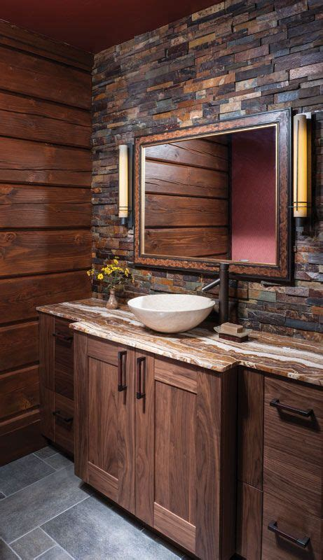 Wood Bathroom Furniture 34 Rustic Bathroom Vanities And Cabinets For A Cozy Touch Digsdigs